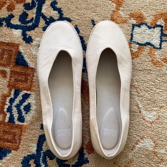 Eileen Fisher size 9 leather slipons